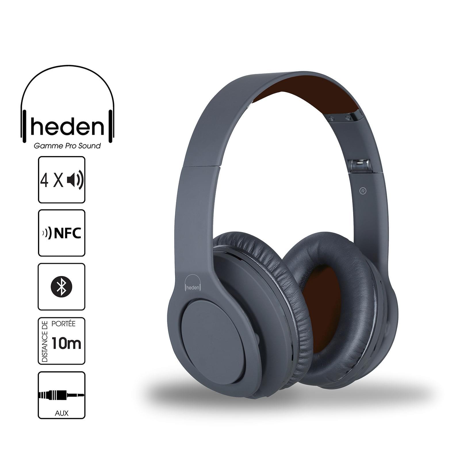Heden PRO Sound Noir Stereo Gris - Micro-casque - Cybertek.fr - 0