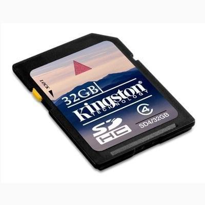 Kingston SDHC 32Go SDHC-Card Class 4 - Carte mémoire Kingston - 0