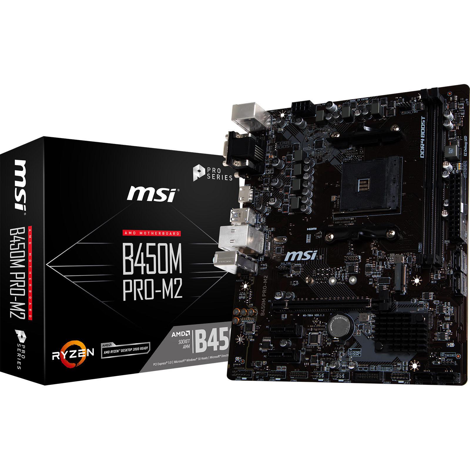 MSI B450M PRO-M2 Micro-ATX DDR4 - Carte mère MSI - Cybertek.fr - 0