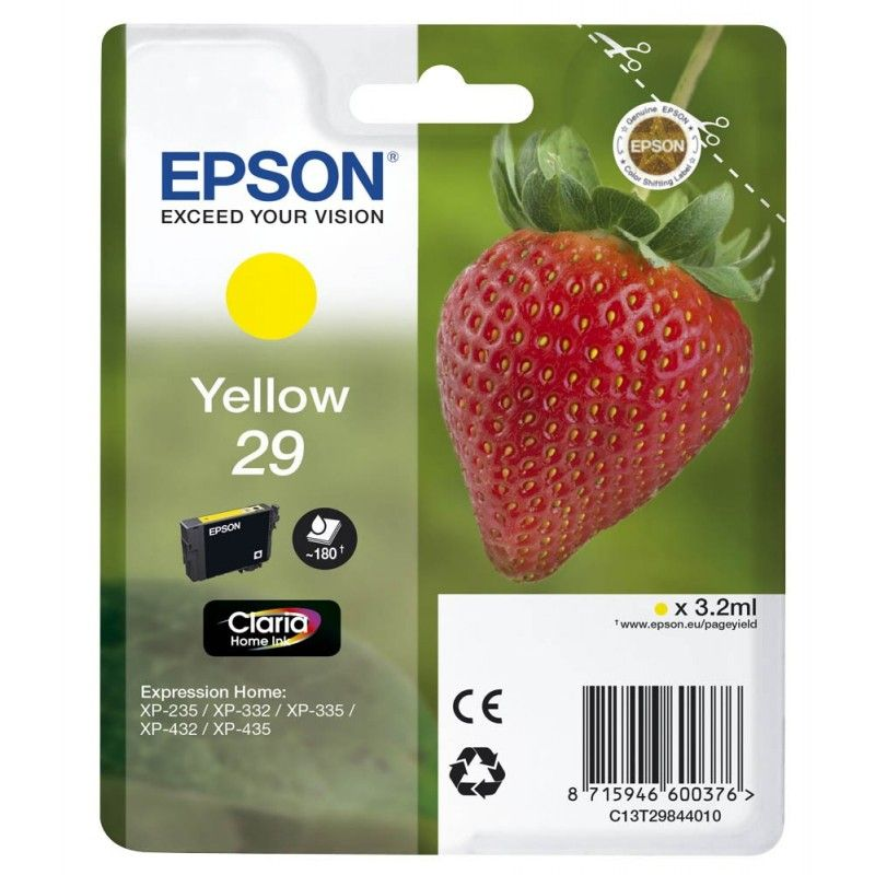 Cartouche Jaune N°29 - C13T29844010 pour imprimante  Epson - 0
