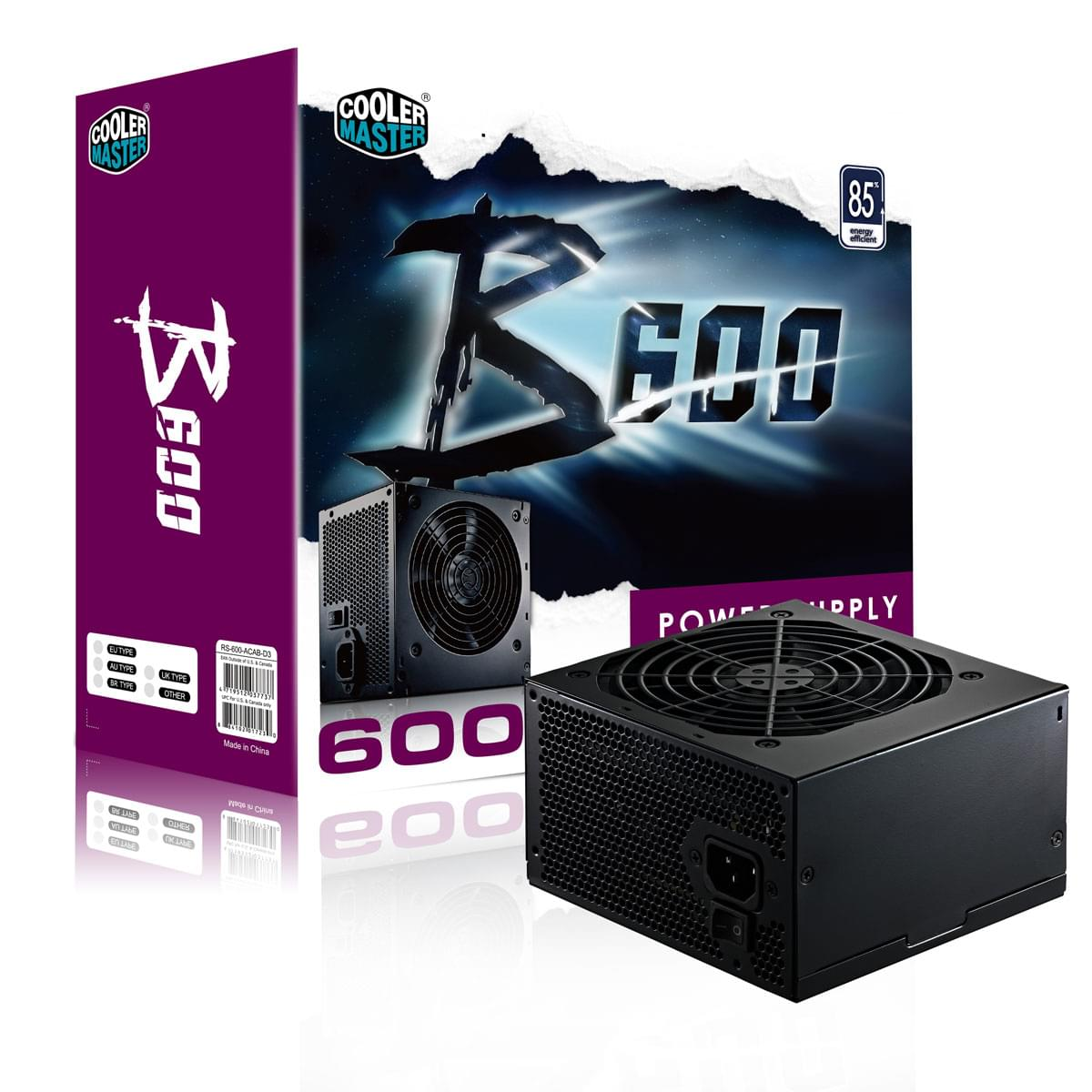 Cooler Master ATX 600 Watts B600 RS600-ACABD3-E1 (RS600-ACABD3-E1) - Achat / Vente Alimentation sur Cybertek.fr - 0