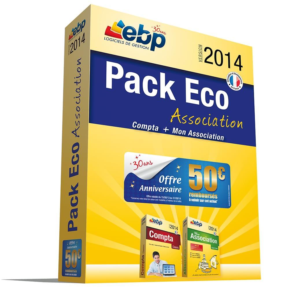 EBP Pack Eco Association 2014 (1166J060FAB) - Achat / Vente Logiciel application sur Cybertek.fr - 0