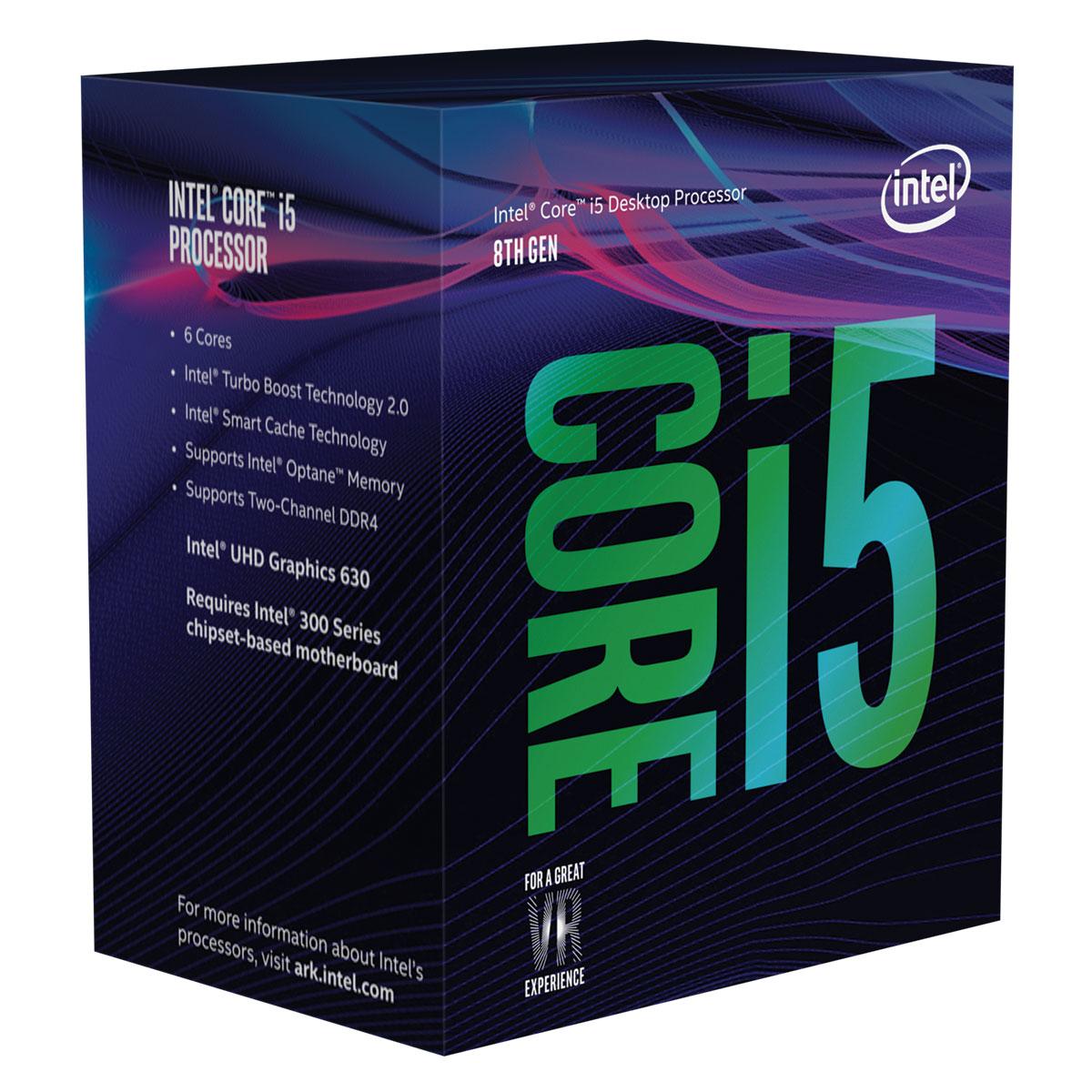 Intel Core i5-8500 - 3GHz/9Mo/LGA1151(2017)/BOX (BX80684I58500) - Achat / Vente Processeur sur Cybertek.fr - 0