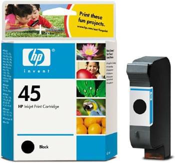 Cartouche N° 45 Noire 42ml - 51645AE pour imprimante Jet d'encre HP - 0