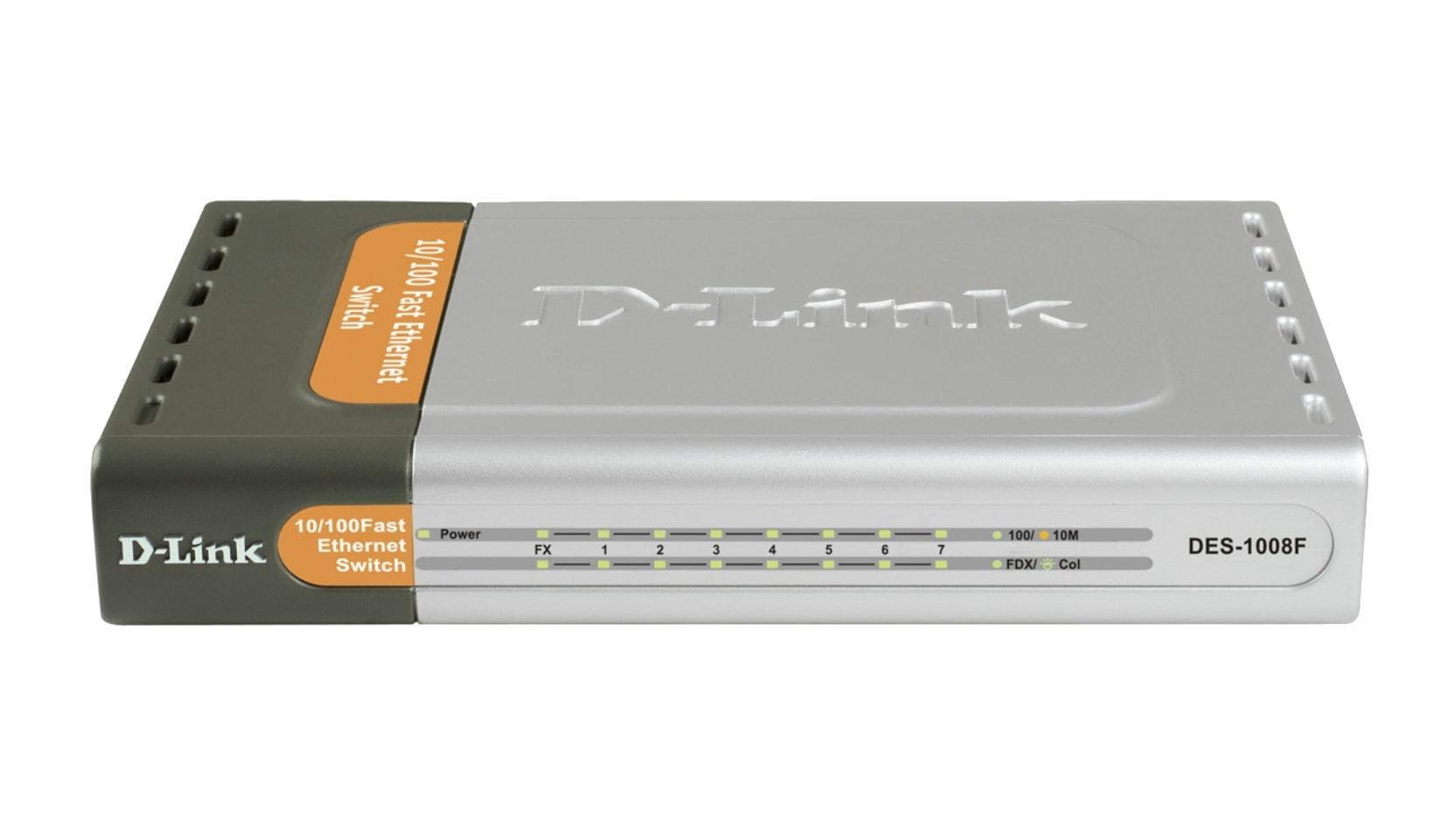 D-Link 8 Ports 10/100 dont 1 Fibre 100Base-FX (DES-1008F) - Achat / Vente Switch sur Cybertek.fr - 0