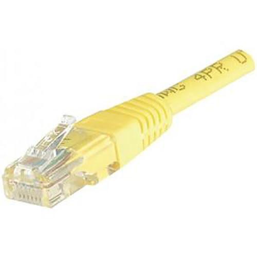 Cordon Cat 6, 4P Moule 2.00 m FTP Jaune - Connectique réseau - 0