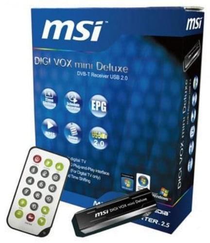 MSI Digi Vox mini Deluxe (IS36-0400570-D47104300239  recup ne pas reapprovis) - Achat / Vente Tuner TNT sur Cybertek.fr - 0