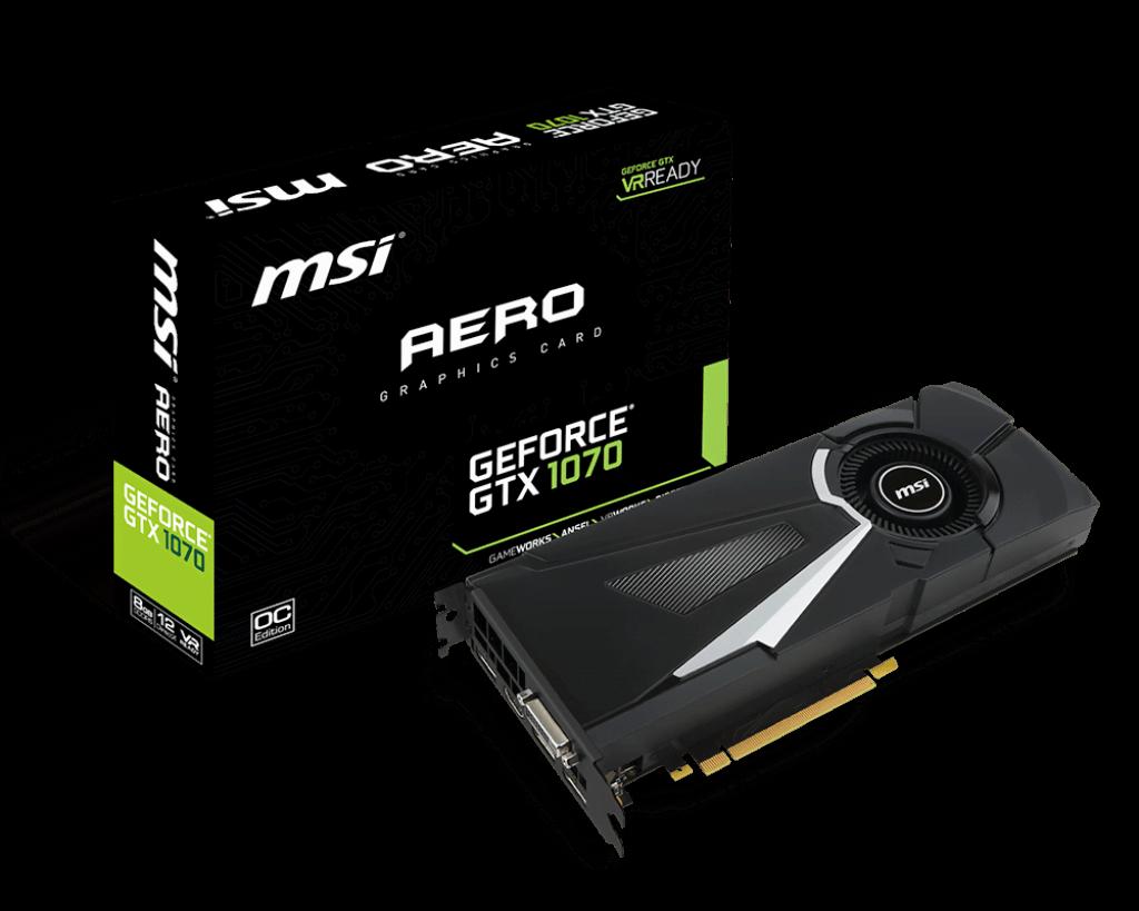 MSI GeForce GTX 1070 AERO 8G OC (GTX 1070 AERO 8G OC ) - Achat / Vente Carte Graphique sur Cybertek.fr - 0