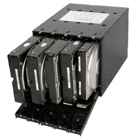 "FlexCage MB975SP-B - 5 HDD sur 3x5.25"" - Tiroir extractible - 3"