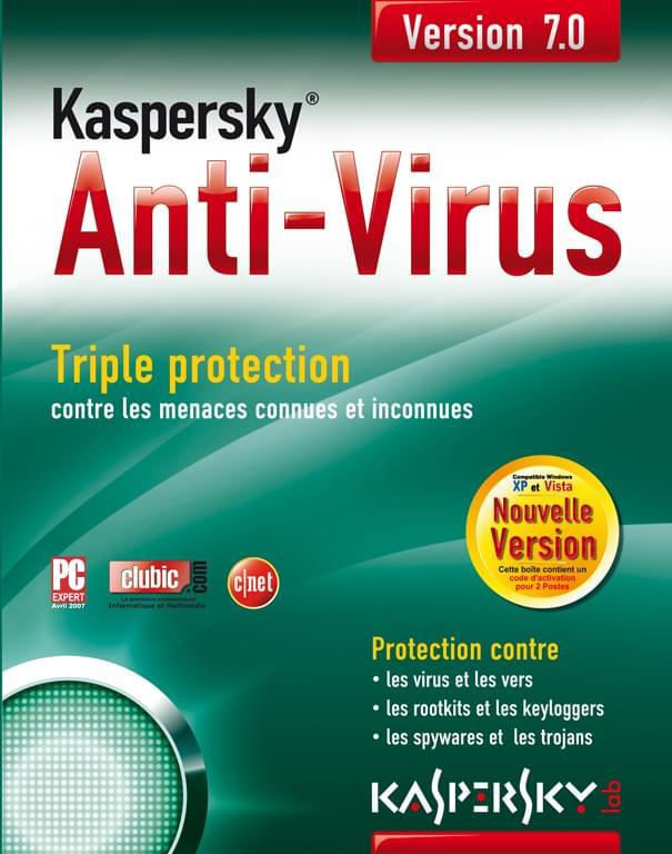 Kaspersky Antivirus AVP Boite - 3 postes / 1 An - Logiciel sécurité - 0