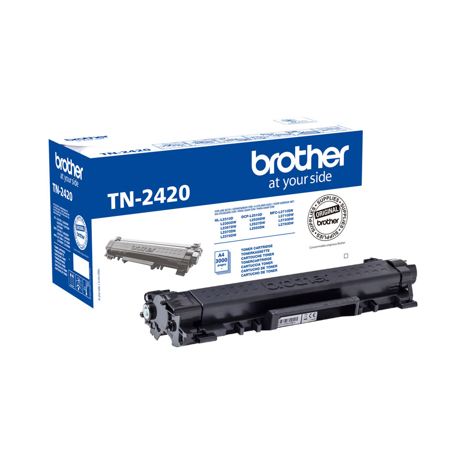 Toner Noir 3000 p. TN2420 pour imprimante Laser Brother - 0