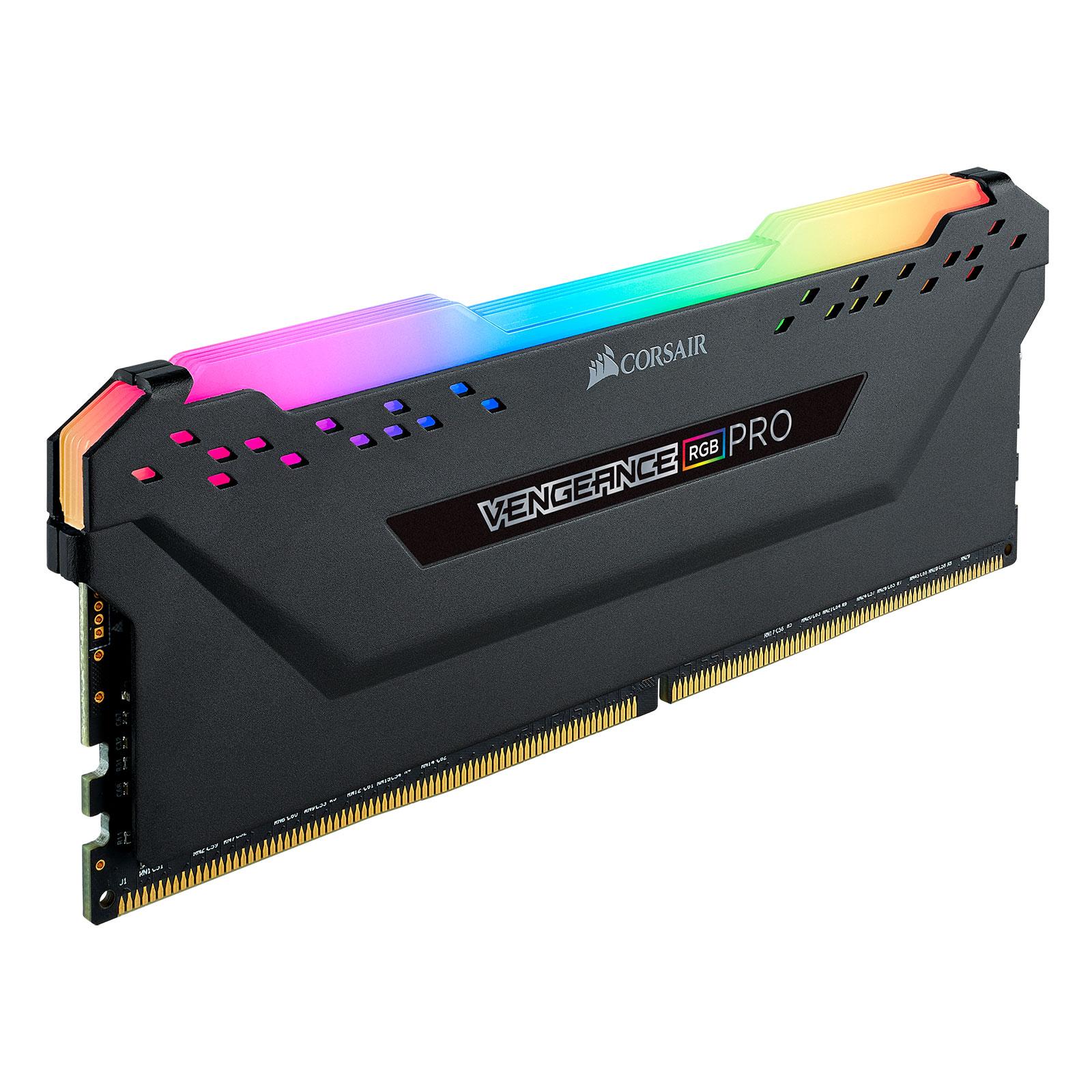 Corsair Vengeance RGB PRO Black Heat Spreader  16Go DDR4 3000MHz PC24000 - Mémoire PC Corsair sur Cybertek.fr - 2