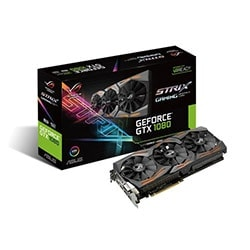 Asus Carte Graphique STRIX-GTX1080-A8G-GAMING - GTX1080/8Go/DVI/HDMI/DP Cybertek