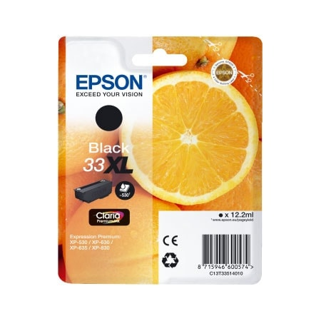 Cartouche Noir 33XL - C13T33514010 pour imprimante  Epson - 0