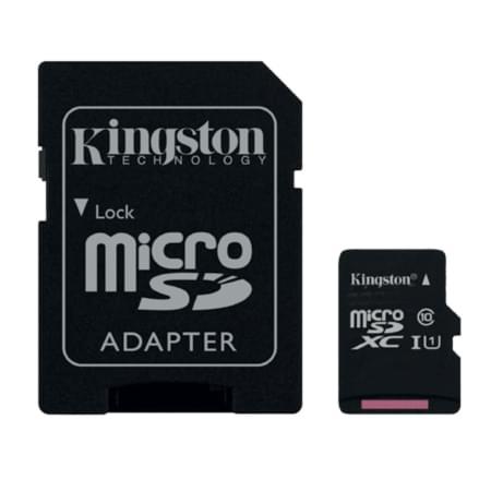 Kingston Micro SDHC 16Go Class 10 + Adapt SDC10G2/16GB - Carte mémoire - 0