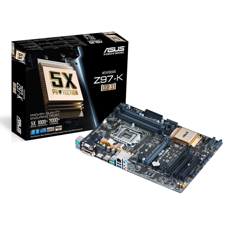 Asus Z97-K/USB3.1 (Z97-K/USB 3.1) - Achat / Vente Carte Mère sur Cybertek.fr - 0