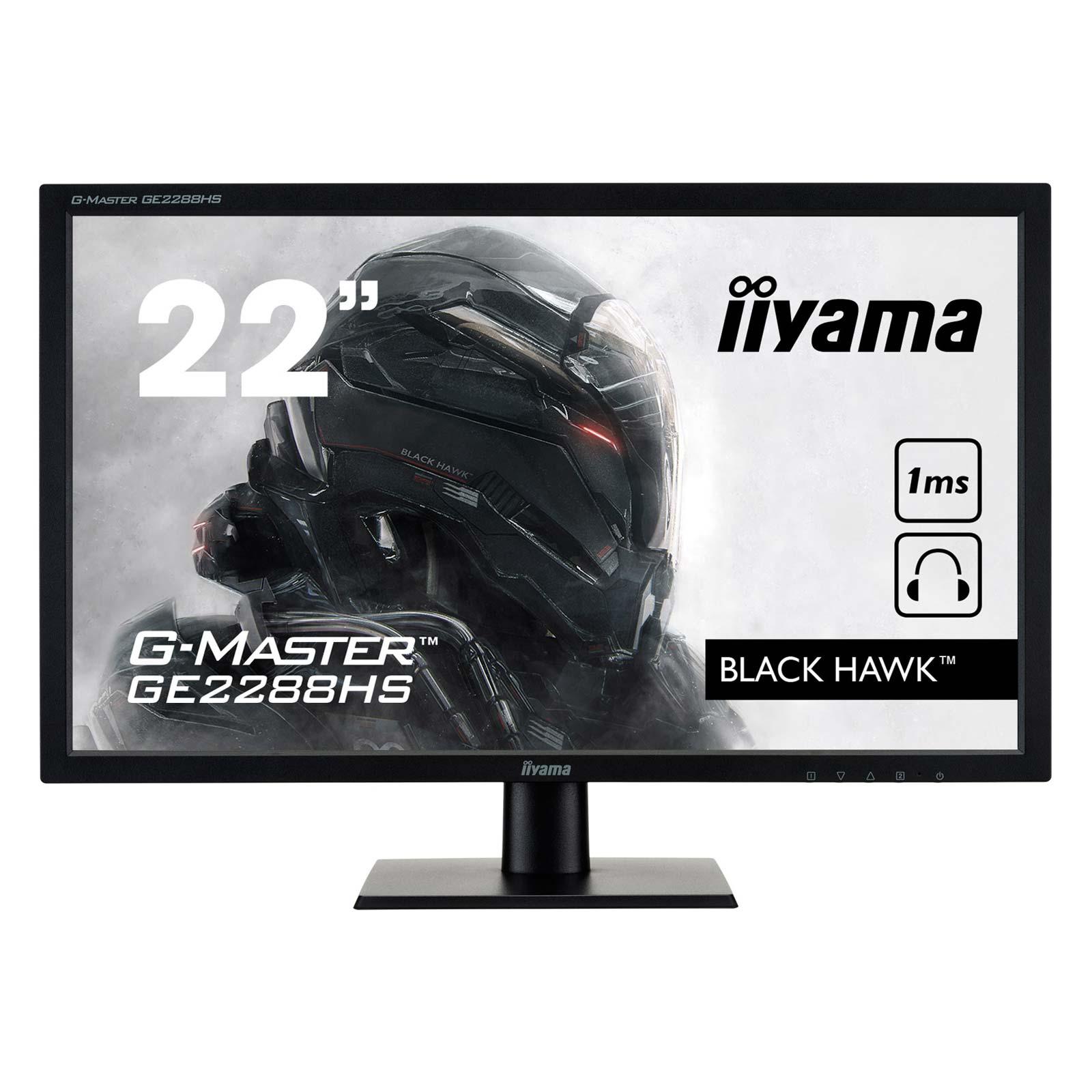 Iiyama GE2288HS-B1 G-Master Black Hawk (GE2288HS-B1) - Achat / Vente Ecran PC sur Cybertek.fr - 1