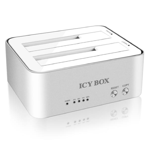 Icy Box Station d'accueil USB3 pour 2xDD SATA -IB-120CL-U3 (IB-120CL-U3) - Achat / Vente Boîtier externe sur Cybertek.fr - 0