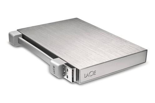 "LaCie 500Go 2""1/2 USB2 Rikiki Go Silver - Disque dur externe - 0"