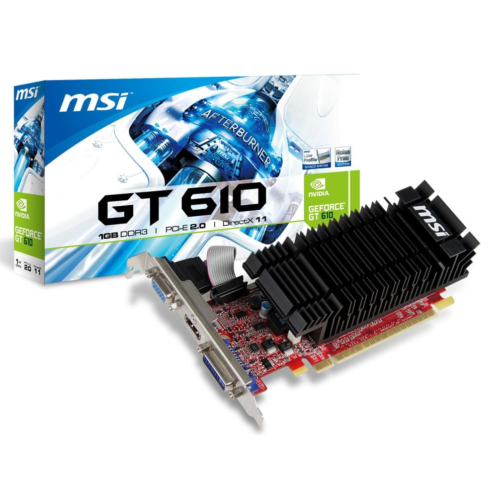MSI N610-1GD3H/LP 1Go - Carte graphique MSI - Cybertek.fr - 0