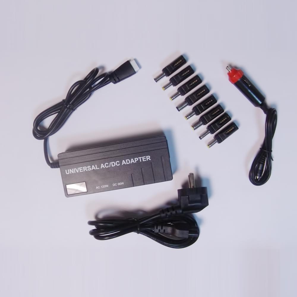 Adaptateur secteur Notebook 120W auto (+voiture) Noir - DUST - 0