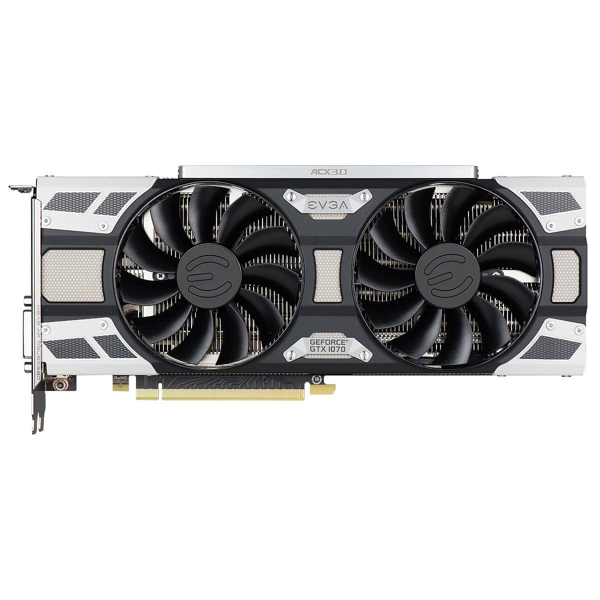 EVGA GeForce GTX 1070 SC GAMING ACX 3.0 (08G-P4-6173-KR) - Achat / Vente Carte graphique sur Cybertek.fr - 4