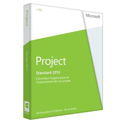 Microsoft Project Standard 2013 (076-05072) - Achat / Vente Logiciel Application sur Cybertek.fr - 0