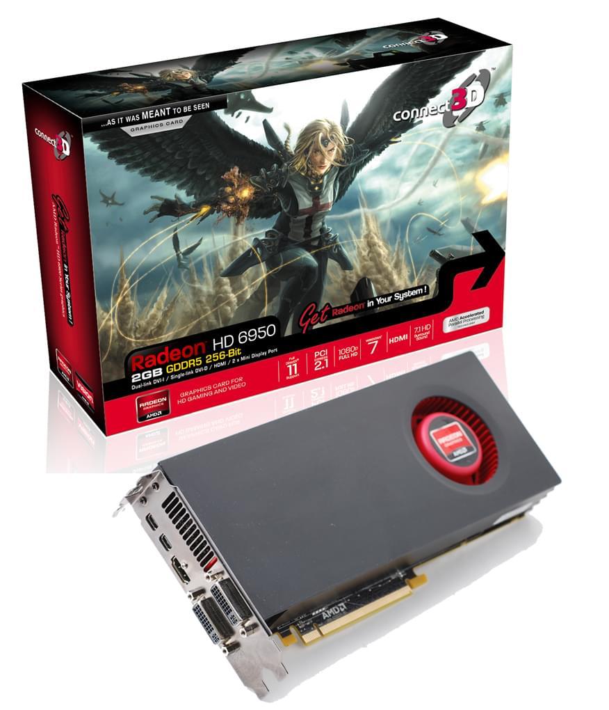 ATI Radeon HD 6950 (C3D-H6950-2GD5E-DP) - Achat / Vente Carte Graphique sur Cybertek.fr - 0
