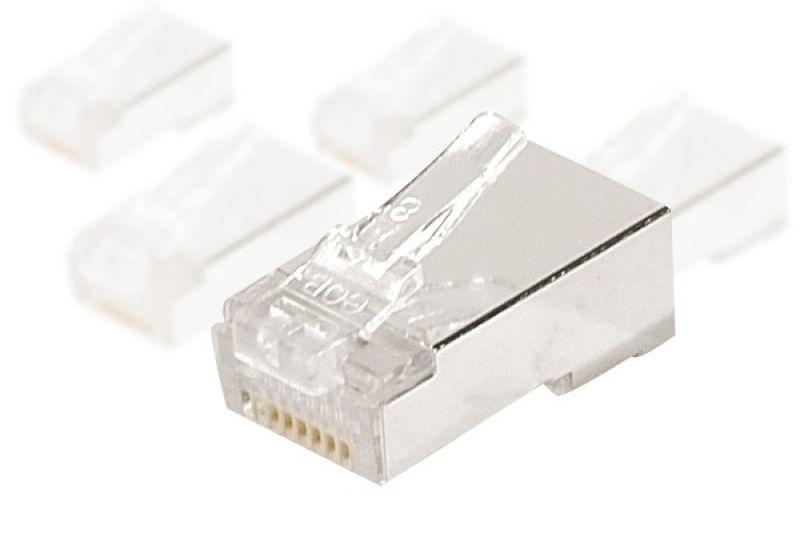 Connecteur RJ45 CAT5e STP MonoBrin+Peigne - par 10 - 0