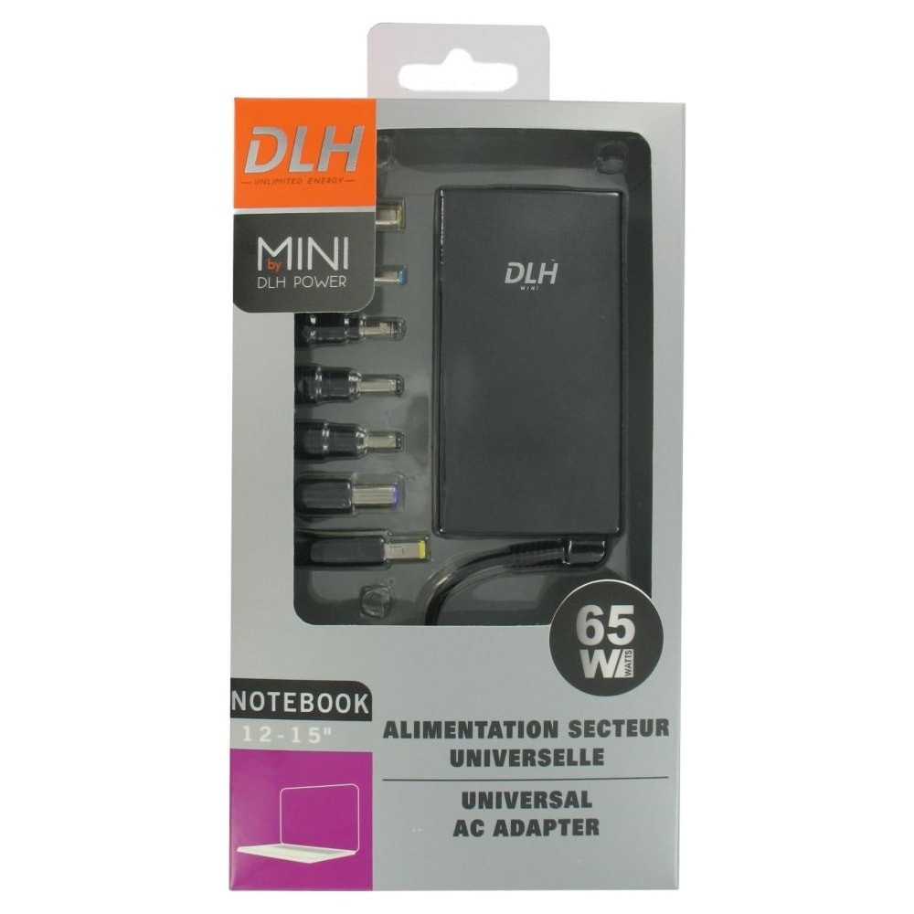 adaptateur Secteur universel Mini 65W - DLH Energy - 0