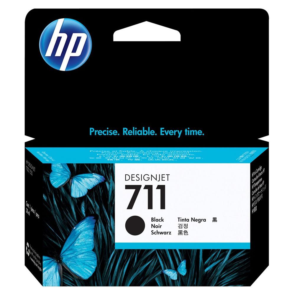 Cartouche Noire 711 - CZ129A pour imprimante Jet d'encre HP - 0