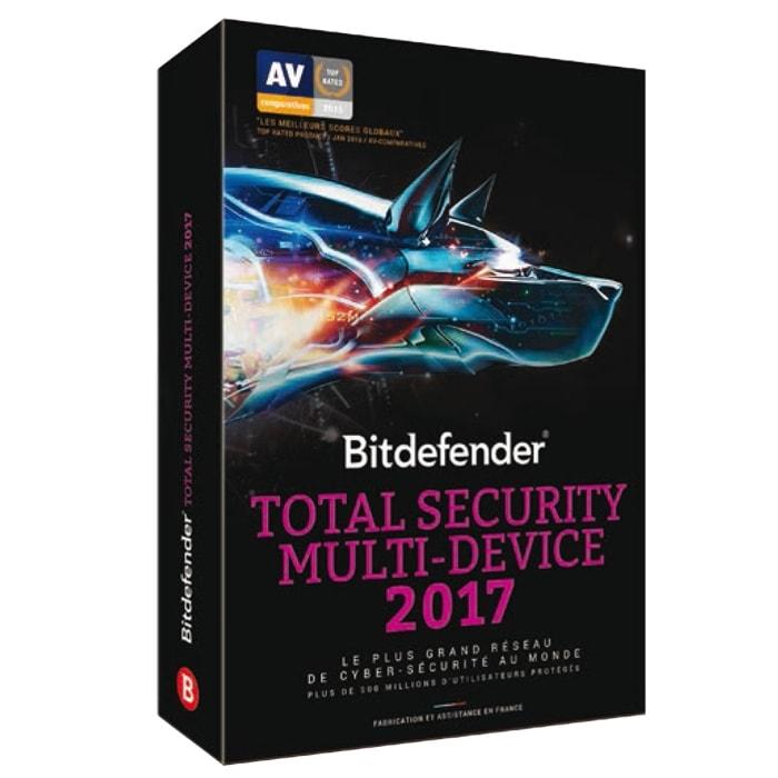 Bitdefender Total Security Multi-Device 2017 - 2 Ans/10 periph - Logiciel sécurité - 0