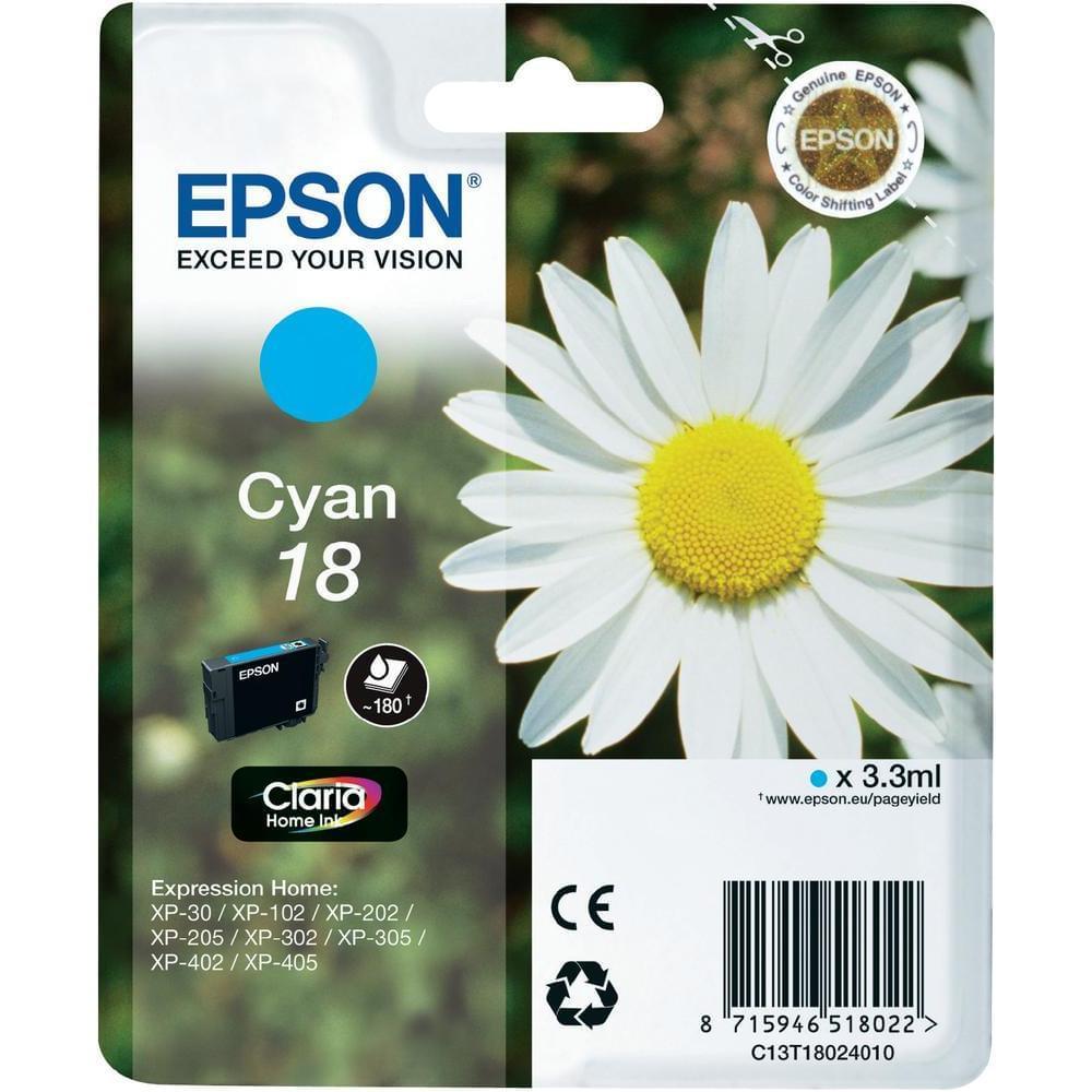 Cartouche T1802 Cyan pour imprimante  Epson - 0