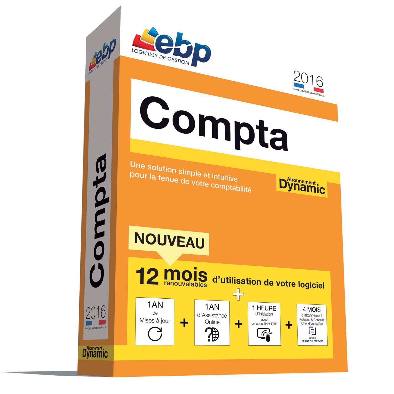 EBP Compta DYNAMIC 12 mois 2016 + VIP (1066E084FAA) - Achat / Vente Logiciel Application sur Cybertek.fr - 0
