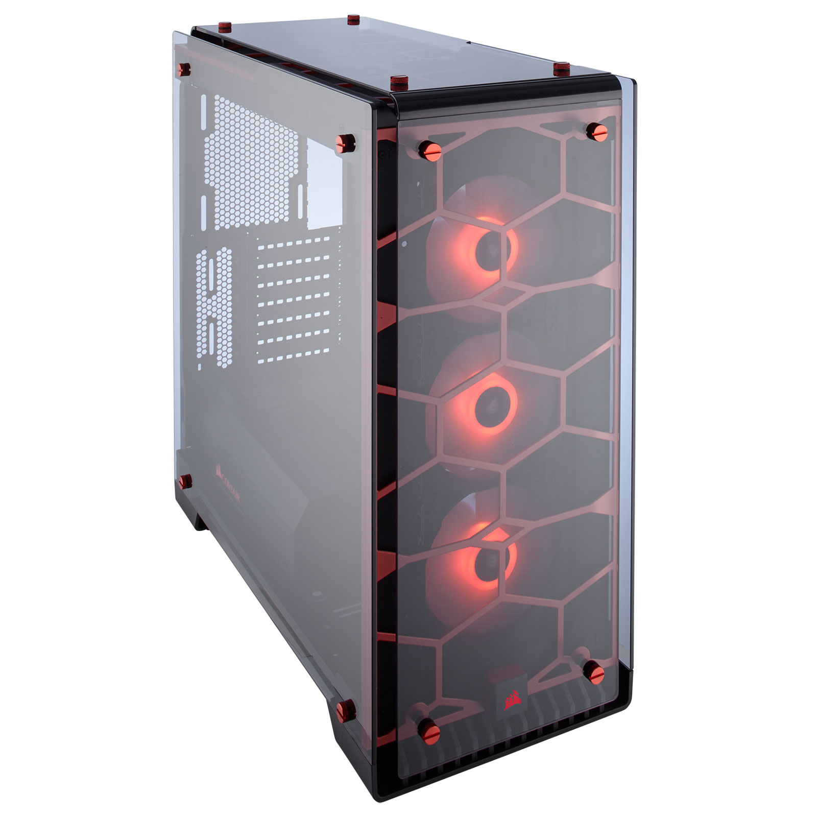 Corsair Crystal 570X RGB Rouge Transparent - Boîtier PC Corsair - 3