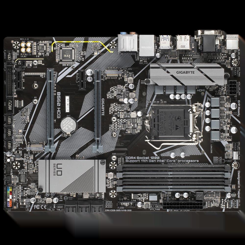 Gigabyte B560 HD3 ATX DDR4 - Carte mère Gigabyte - Cybertek.fr - 3