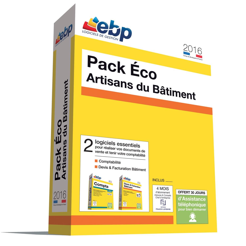 EBP Pack Eco Artisans du Bâtiment 2016 + ODR 40 € (1166J080FAH) - Achat / Vente Logiciel Application sur Cybertek.fr - 0