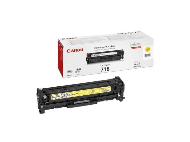 Toner 718 Jaune 3000p - 2659B002 pour imprimante Laser Canon - 0