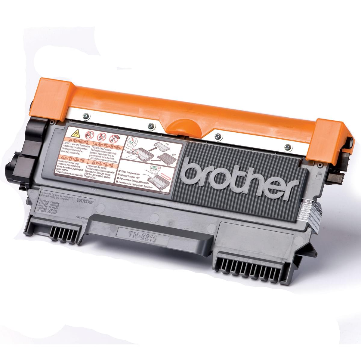 Toner Noir 1200p - TN-2210 pour imprimante Laser Brother - 0