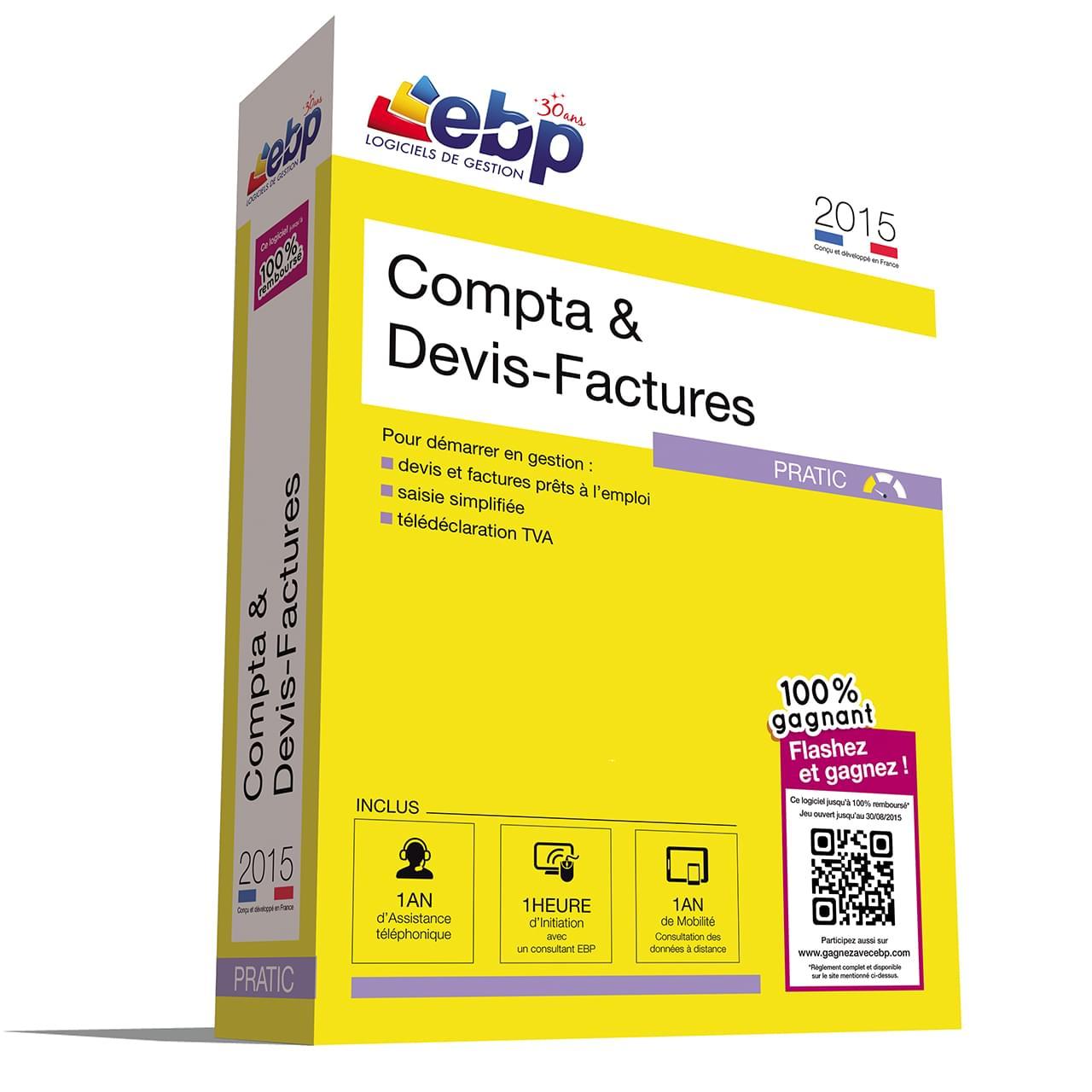 EBP Compta & Devis-Factures Pratic 2015+VIP+100% Gagn. (1014E071FAB) - Achat / Vente Logiciel Application sur Cybertek.fr - 0