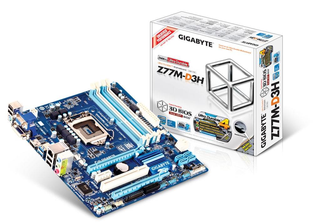 Gigabyte Z77M-D3H (Z77M-D3H) - Achat / Vente Carte Mère sur Cybertek.fr - 0