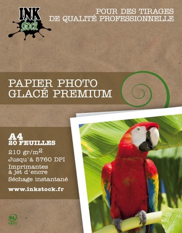 InkStock Papier Photo Glacé Premium A4 20f. 210Gr  (H210A420) - Achat / Vente Papier Imprimante sur Cybertek.fr - 0