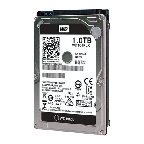 "WD 1To 7200tr SATA III 32MO BLACK WD10JPLX - Disque dur interne 2.5"" - 0"