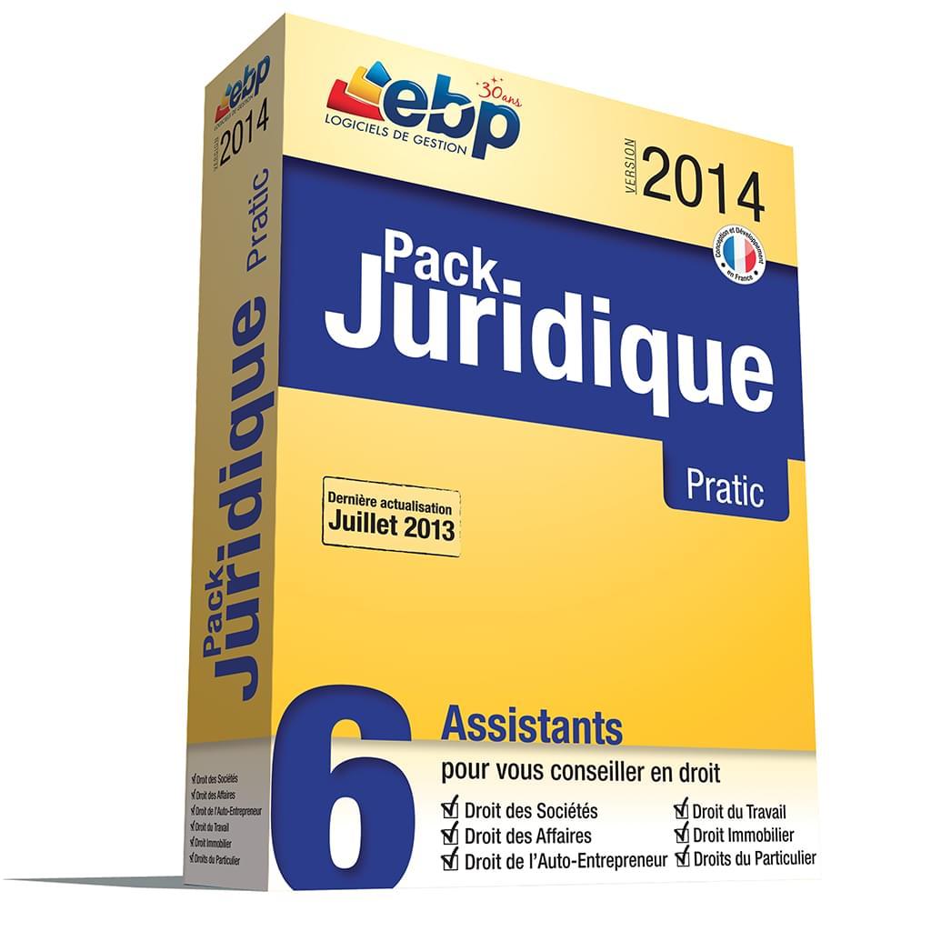 EBP Pack Juridique Pratic 2014 (1089E060FAI) - Achat / Vente Logiciel application sur Cybertek.fr - 0