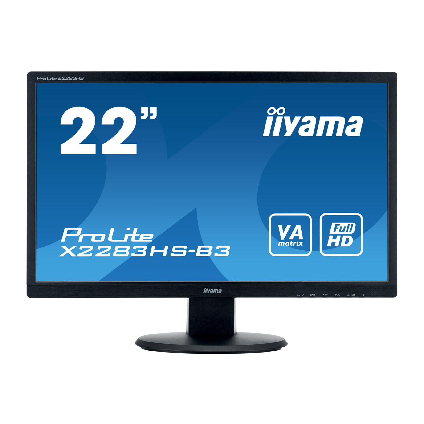 "Iiyama 22""  X2283HS-B3 -- - Ecran PC Iiyama - Cybertek.fr - 0"
