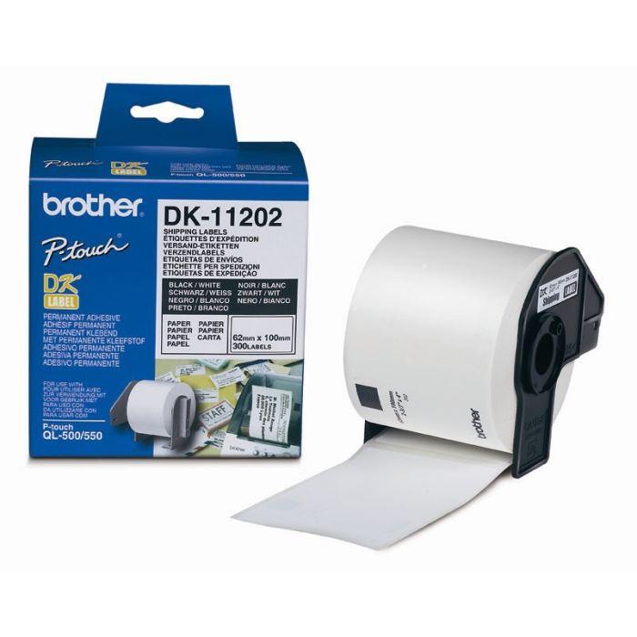 DK11202 - 300 étiquettes 62x100mm pour imprimante Transfert thermique Brother - 0