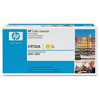 Toner C9732A Jaune 12000p pour imprimante Laser HP - 0
