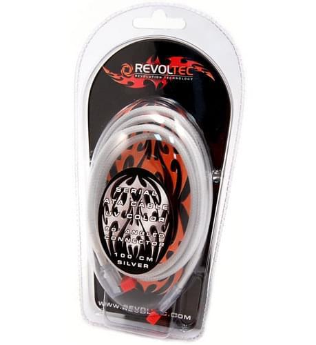 Revoltec Nappe SATA coudé UV Active 1m Silver RC053 (RC053) - Achat / Vente Accessoire boîtier sur Cybertek.fr - 0