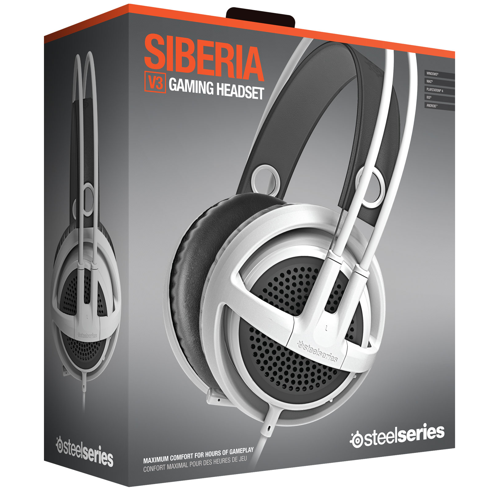 Steelseries Siberia V3 Blanc Stereo Blanc - Micro-casque - 4