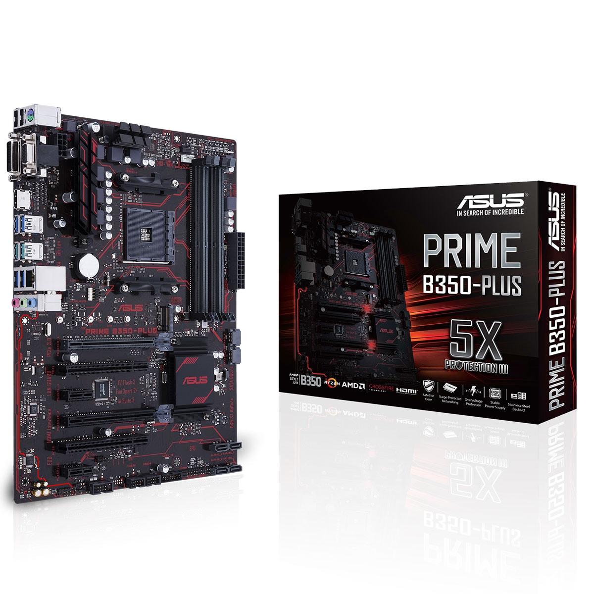Asus PRIME B350-PLUS  DDR4 - Carte mère Asus - Cybertek.fr - 0